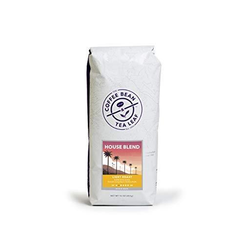 Coffee Bean & Tea Leaf House Blend Whole Bean Light Roast Premium Coffee 1-Pound Bag ()