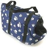 Pet Travel Carrier Shoulder Bag Tote Purse Pouch Cat Dog Soft Plush - Paw Print