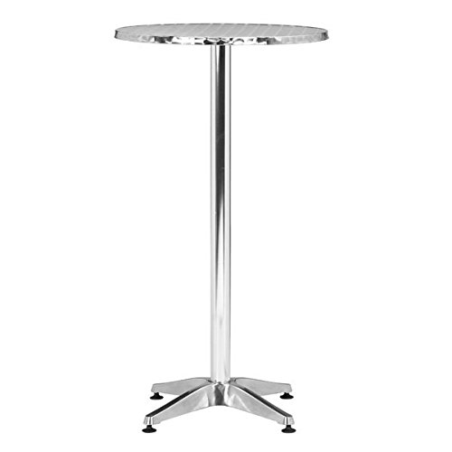 Zuo Cafe Bar Table, Aluminum by Zuo