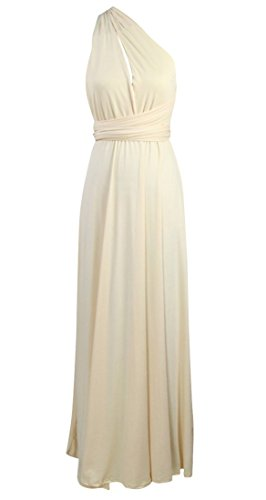 Preferhouse Women's Maternity Maxi Dress Sleeveless Sun Dress Long Gown (Champagne,m)