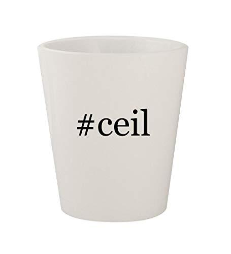 #ceil - Ceramic White Hashtag 1.5oz Shot Glass