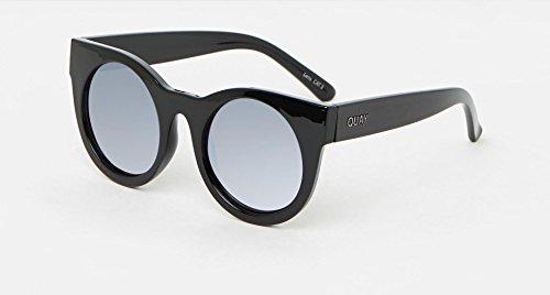 QUAY AUSTRALIA Women's Right Time Black/Lilac Mirror - Quay Eyewear Usa