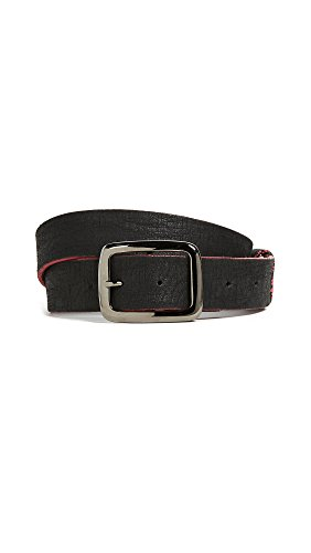 B. Belt Women's Distressed Leather Belt, Black/Fuchsia, Small by B. Belt