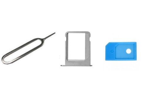 Apple iPhone 4S- GSM, AT&T- Replacement Micro SIM Card Tray Holder Slot, SIM Card Tray Holder Eject Pin Tool, Micro sim card to Mini Sim Card Adaptor- Ramdon Color