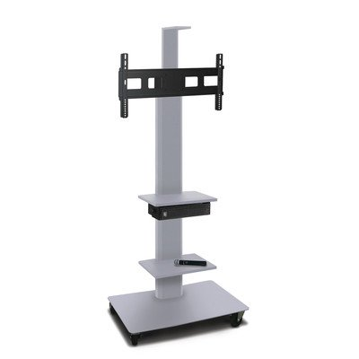 Marvel Vizion TV/Monitor Stand and Mount with Shelves, Camera Shelf, and Hand-held Microphone MVPFS6065ST-2CH