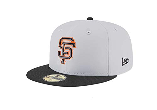 (New Era Kid's/Youth 59Fifty Hat San Francisco Giants Gray/Black Cap 11715571 (6 3/4) )