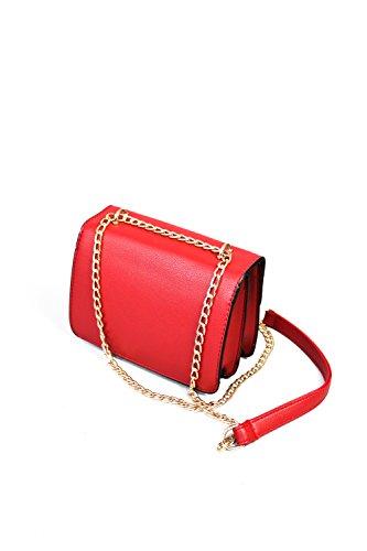 Sassyclassy, Borsa a tracolla donna rosso Rot 20x14x9 cm