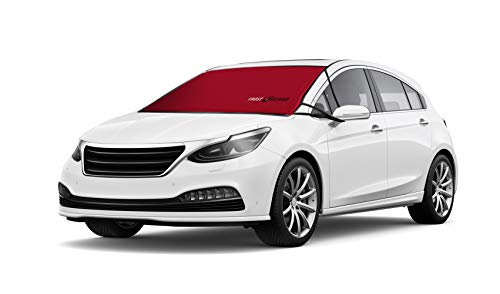 FrostGuard ProTec | Premium Winter Windshield Cover for Snow, Frost and Ice - Cold Weather Protection for Your Vehicle - Red, Standard Size 60 x 32' Fits Cars, Sedans, Small Trucks and SUVs