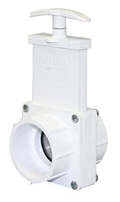 "Valterra 4201 PVC Gate Valve, White, 2"" Slip by Valterra Products"