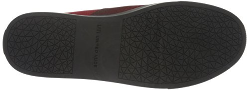 United Nude Origami Slip On, Mocasines para Mujer Rojo - Rot (Wine Fade)