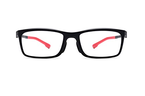 - Outdoor Sports Riding Basketball Non-slip Glasses Frames TR90 Students Optical Glasses Unisex,Red-M