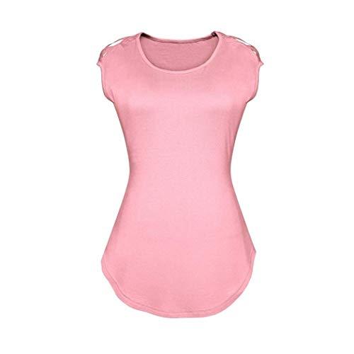 Rose Creux Spcial Mode Manches Jeune Femme Mince Moulants Blouse Rond Shirts Col Haut Slim Style Et Tshirt Casual Tops Courtes lgant Mode Fit Unicolore wgqaFwv