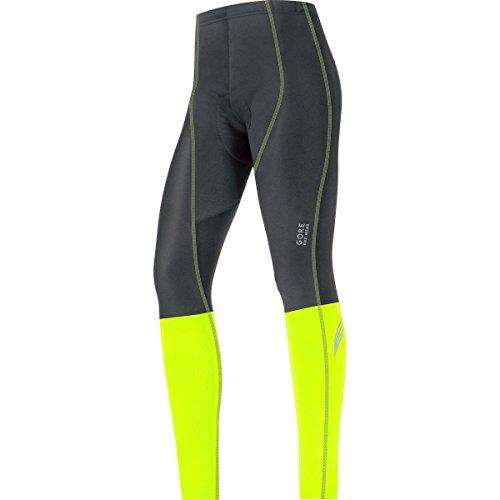 GORE BIKE WEAR Women's Element Lady Windstopper Soft Shell Plus Tights, Black/Neon Yellow, X-Small by Gore Bike Wear