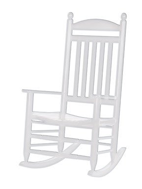 Magnificent Amazon Com Hinkle 200Sw Rta Slat Back Rocker White Andrewgaddart Wooden Chair Designs For Living Room Andrewgaddartcom
