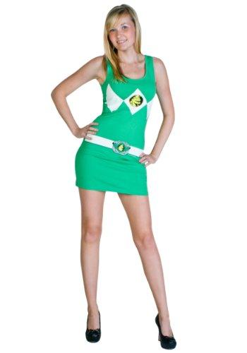 Power Rangers Costume Tank Dress Green (Small) (Power Rangers Green Ranger Costume)