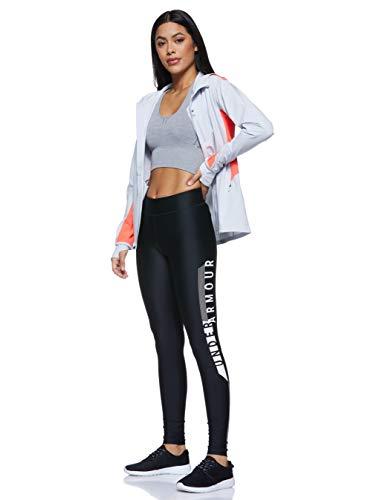 Under Armour Women's HeatGear Armour Graphic Leggings, Black (001)/Metallic Silver, XX-Large Tall