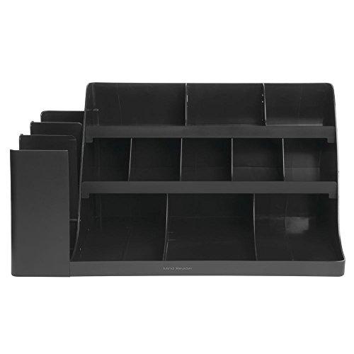 "Mind Reader ""Vanguard"" 14-Compartment 3-Tier Extra Large Black ABS Plastic Breakroom Organizer from EMS MIND READER"