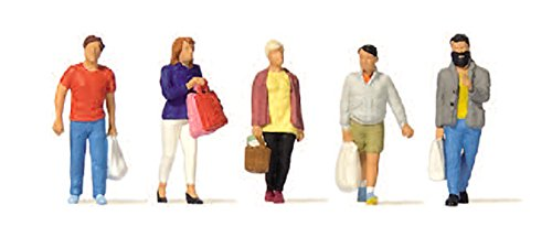 Preiser 10673 Shoppers Package(5) HO Model Figure