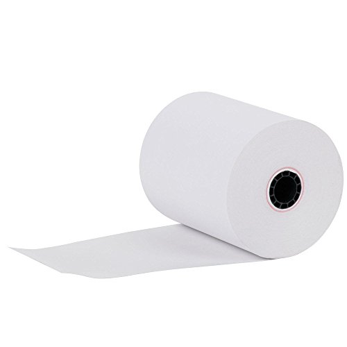 "3-1/8"" x 230' (50 Rolls) Thermal Paper 3"" diameter Cash Register Rolls BPA Free Made in USA From BuyRegisterRolls 318230."