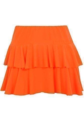 Orange, White or Yellow Two Layer Ra-Ra Skirt for Women - Sizes 8 to 14