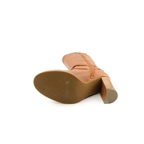 Toe Knee Le Bandolino Closed Fashion Aisel Natural High Boots Medium Leather Womens FZFnqTX1I