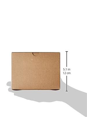 "Premier Retail Packaging 10 Count Kraft Pinstripe Gift Box, 6 x 6 x 4"""