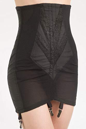(Rago Women's High Waist Open Bottom Girdle with Zipper, Black, X-Large (32))