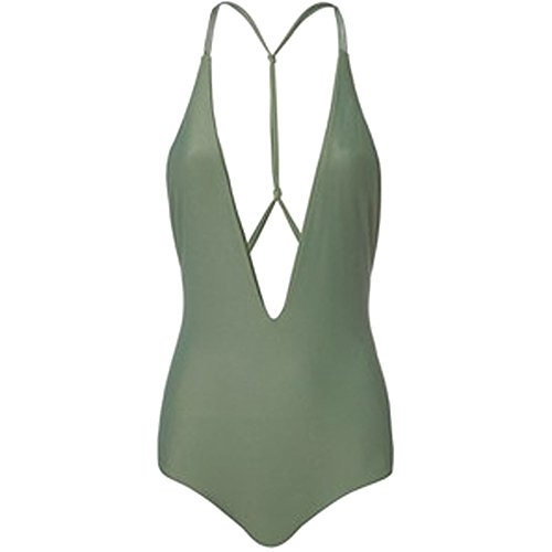 MIKOH Womens Africa One Piece Olive Large by MIKOH