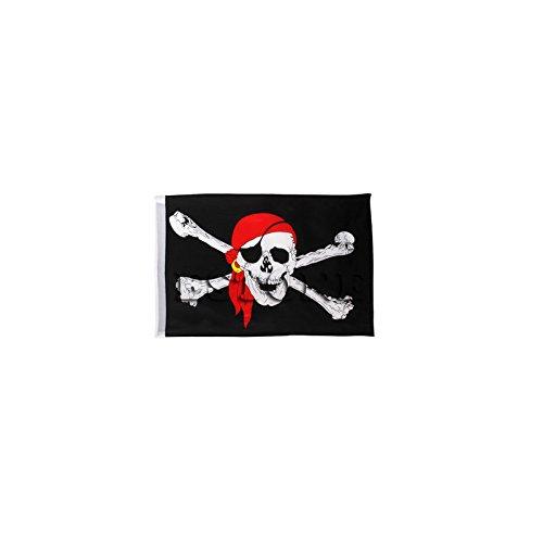 SimpleLife 1Pc Grand Crâne Crossbones Pirate Flag Jolly Roger Accroché avec Oeillet NO Pole 45 x 30cm