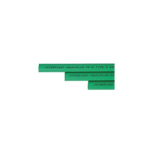 Aqua-Plus - PPR Rohr Stange L = 2 m d = 20 x 3,4 mm, grü n - 2 Meter