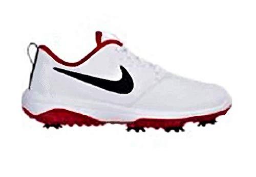 Nike Men's Roshe G Tour Golf Shoes (11 M US, White/Black/White/University Red)
