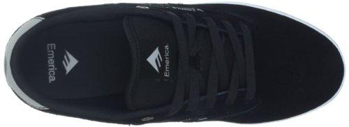 Emerica THE JINX 2 6101000095 - Zapatillas de cuero para hombre Negro (Nero (Schwarz (black/white 090)))