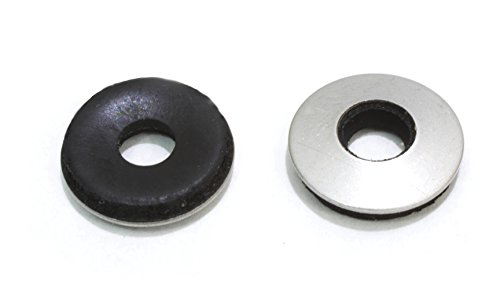 1/4'' x 5/8'' OD Stainless EPDM Washers, (100 pc) Neoprene Backed, Choose Size & QTY, By Bolt Dropper. by Bolt Dropper