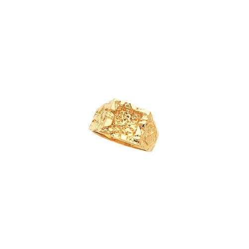 14K Yellow Gold Nugget Ring Mounting ()