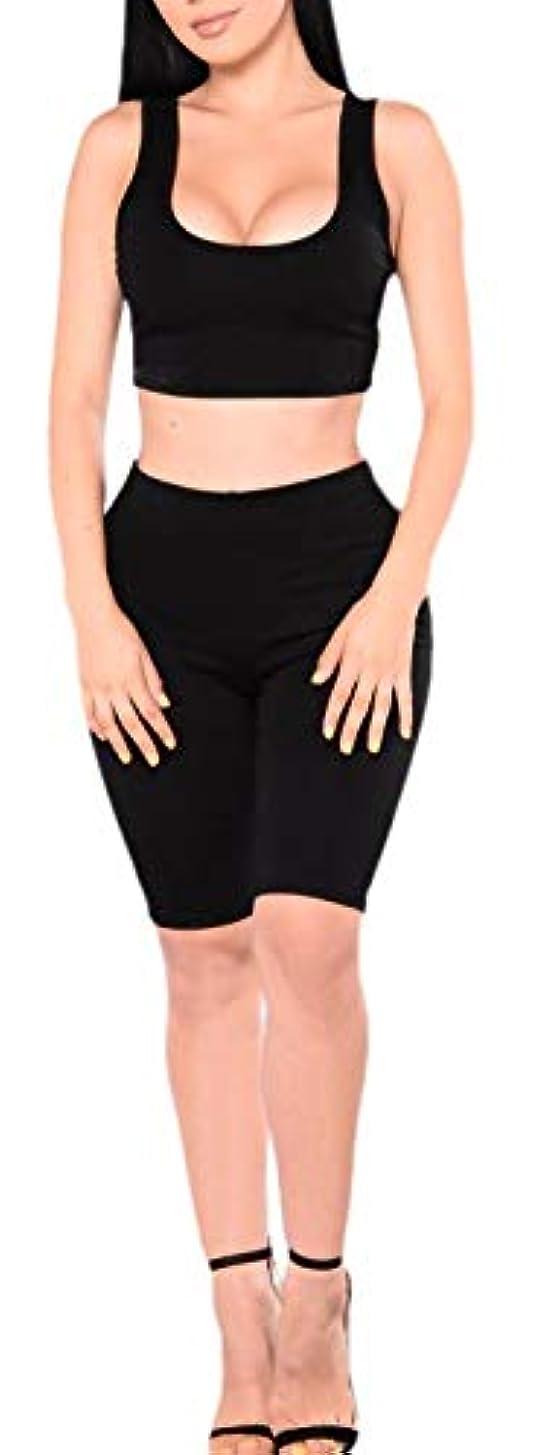 セレナ突然大混乱chenshiba-JP Women Two Piece Outfits FitnessTank Crop Top Bodycon Skinny Pants Sets