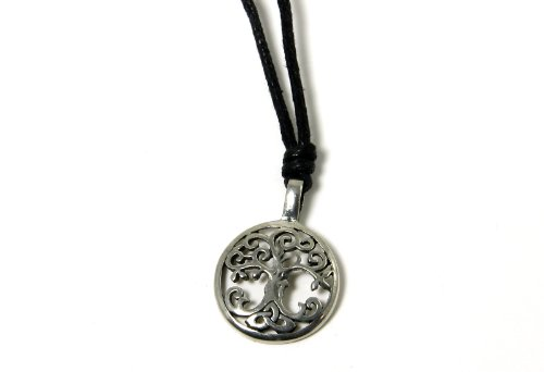 Amethyst Dublin Irish Pendant Tree of Life Pewter Adjustable Cord Made in Ireland