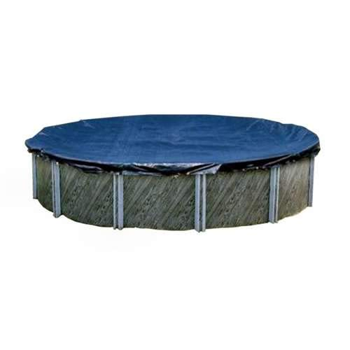 (Swimline S28RD 28' Winter Round Above Ground Swimming Pool Cover Blue)