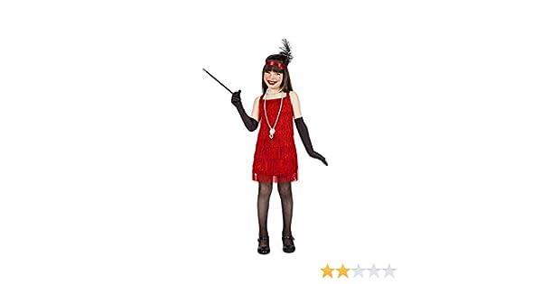 Disfraz Charleston Flecos Rojo 7-9: Amazon.es: Juguetes y juegos