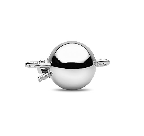 Kimura Pearls Femme  925  Argent|#Silver Rond  Perle d'eau douce chinoise Blanc Perle