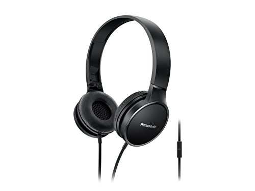 Panasonic Headphones RP HF300M K Integrated Travel Fold