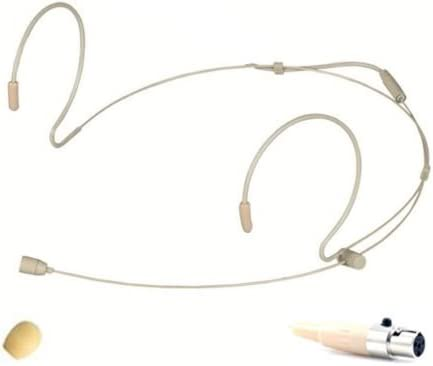 Double Earhook Headset Microphone with 4 pin XLR Connector for SHURE Wireless