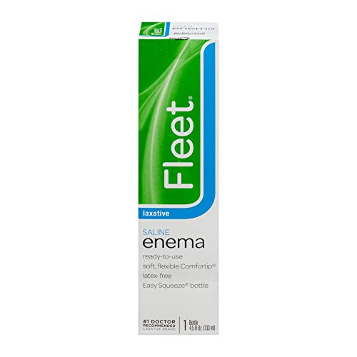 Fleet Enema, Ready-to-Use Saline Laxative, 4.5 Fluid Ounce