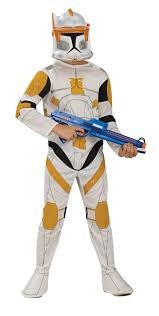 [Kids Star Wars Clone Trooper Commander Cody Costume] (Clone Trooper Commander Cody Child Costume)
