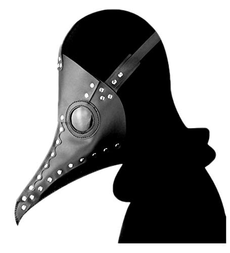 Plague Doctor Mask,A&C Hero Bird Beak Mask Long Nose,Steampunk Cosplay PU Halloween -