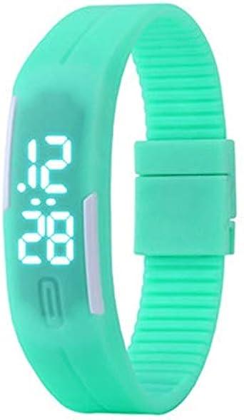 Reloj para niños Deporte Multifunción LED Cronómetro Reloj de Pulsera Reloj Digital para niños Edad 4-12 Niño Niña - Verde Menta: Amazon.es: Relojes