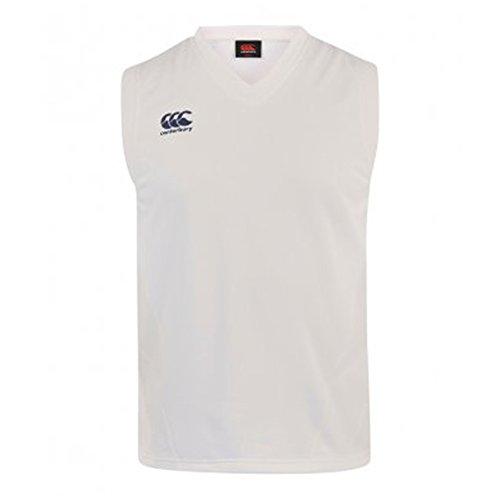 Canterbury Cream - Canterbury Mens V Neck Cricket Overshirt (L) (Cream)