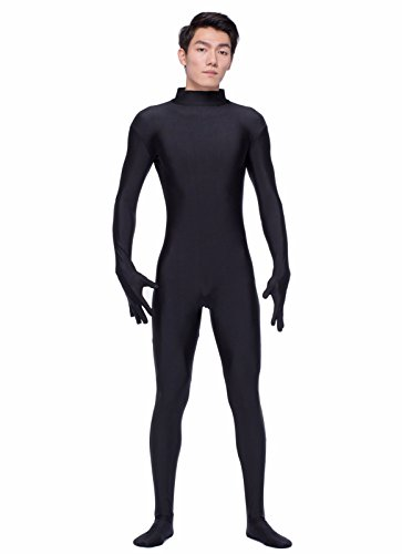 Error Page Costume (COLOR LIFE Mens Mock Neck Full Body Suit Long Sleeve Unitard Men Spandex Bodyuit Zentai Suits)