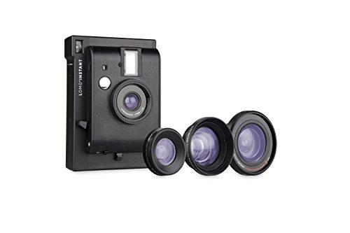 Lomography Lomo'Instant Black Edition + 3 Lenses – Instant Film Camera