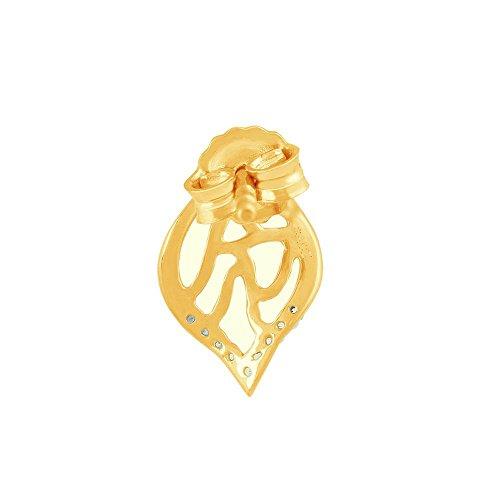 Giantti Diamant pour femme pendantes Boucles d'oreilles (0.05CT, qualité HSI, Gh-colour)