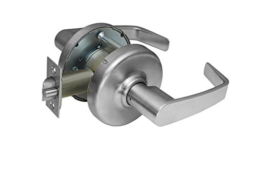 Corbin Russwin CL3380 NZD 626 Extra Heavy-Duty Passage Lever with Blank Plate Function Cylindrical Lever Lockset, Grade 1, Newport Lever Design, Satin Chrome by Corbin Russwin